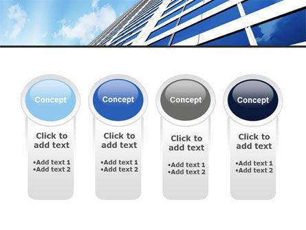 Blue Skyscraper PowerPoint Template Slide 5