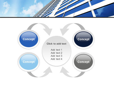 Blue Skyscraper PowerPoint Template Slide 6