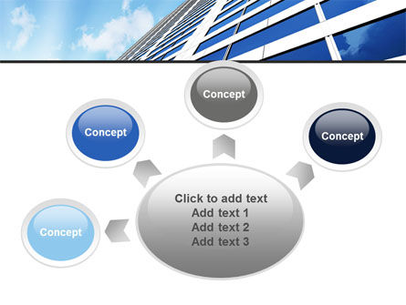 Blue Skyscraper PowerPoint Template Slide 7