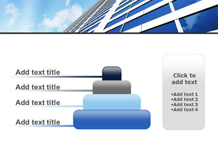 Blue Skyscraper PowerPoint Template Slide 8