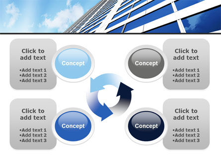 Blue Skyscraper PowerPoint Template Slide 9