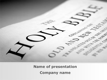 Holy Writ PowerPoint Template, 09353, Religious/Spiritual — PoweredTemplate.com
