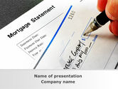 Consulting: Mortgage Statement PowerPoint Template #09355