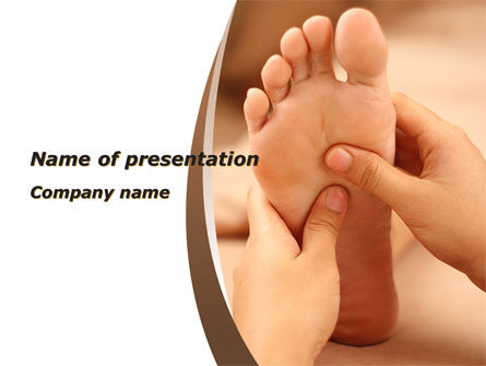 Medical: Feet Dotted Massage PowerPoint Template #09356