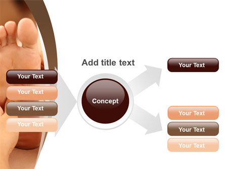 Feet Dotted Massage PowerPoint Template Slide 14