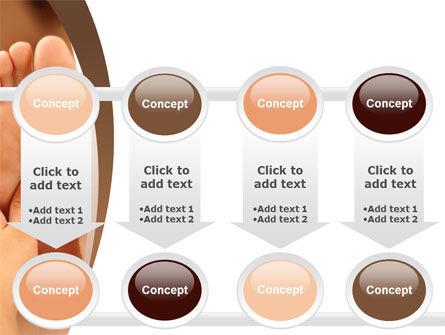 Feet Dotted Massage PowerPoint Template Slide 18