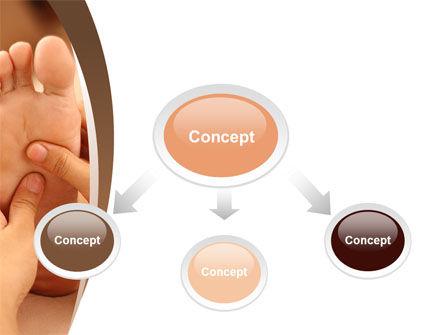 Feet Dotted Massage PowerPoint Template, Slide 4, 09356, Medical — PoweredTemplate.com