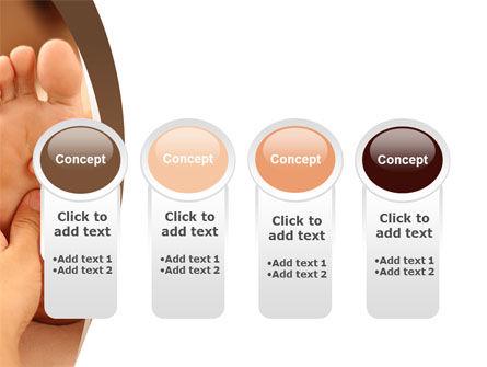 Feet Dotted Massage PowerPoint Template Slide 5