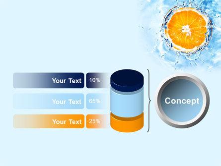 Orange In Pure Water PowerPoint Template Slide 11