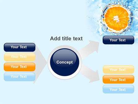 Orange In Pure Water PowerPoint Template Slide 14