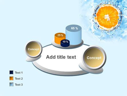 Orange In Pure Water PowerPoint Template Slide 16