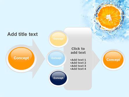 Orange In Pure Water PowerPoint Template Slide 17