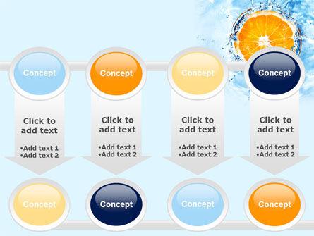 Orange In Pure Water PowerPoint Template Slide 18