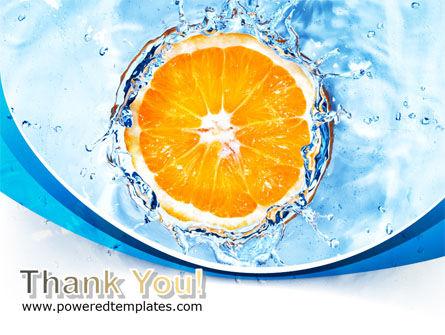 Orange In Pure Water PowerPoint Template Slide 20