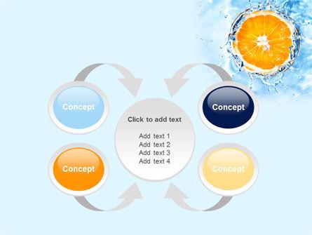 Orange In Pure Water PowerPoint Template Slide 6