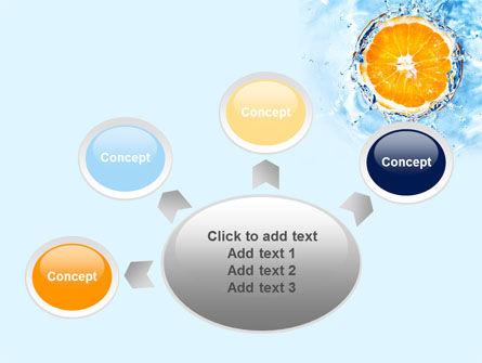 Orange In Pure Water PowerPoint Template Slide 7