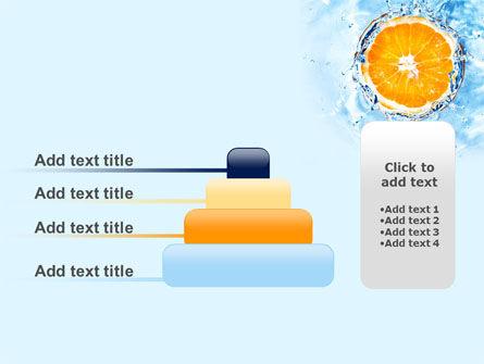 Orange In Pure Water PowerPoint Template Slide 8