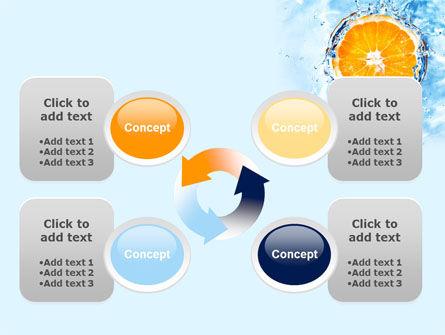 Orange In Pure Water PowerPoint Template Slide 9