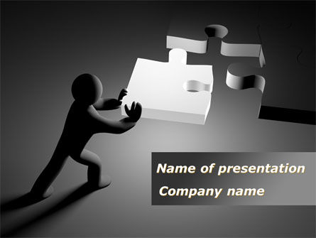 Last Piece Of Puzzle PowerPoint Template, 09360, Business Concepts — PoweredTemplate.com