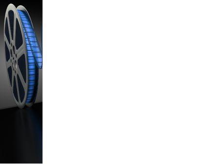 Film Reel In Dark Blue Color PowerPoint Template, Slide 3, 09362, Art & Entertainment — PoweredTemplate.com