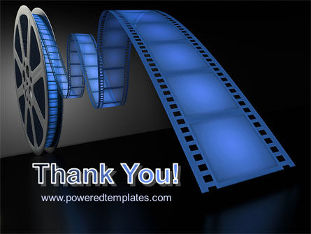Film Reel In Dark Blue Color PowerPoint Template Slide 20