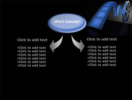 Film Reel In Dark Blue Color PowerPoint Template Slide 4