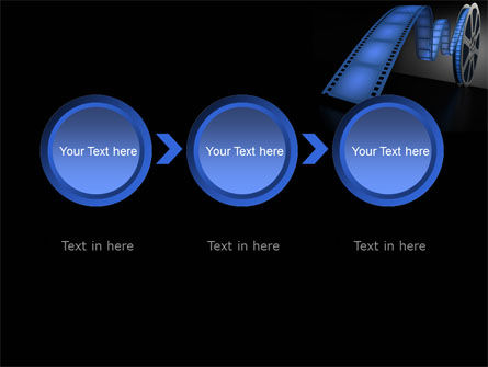 Film Reel In Dark Blue Color PowerPoint Template Slide 5
