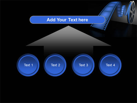 Film Reel In Dark Blue Color PowerPoint Template Slide 8
