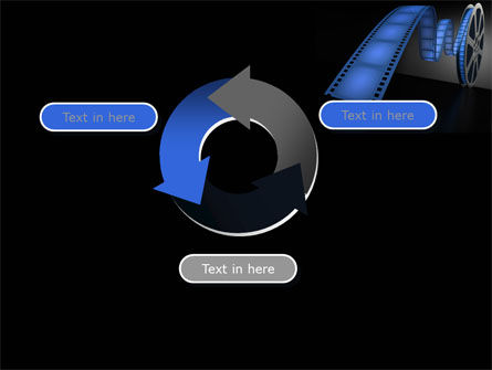 Film Reel In Dark Blue Color PowerPoint Template Slide 9