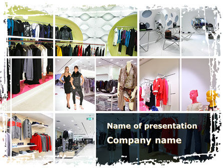 Clothing Store PowerPoint Template, 09363, Business — PoweredTemplate.com