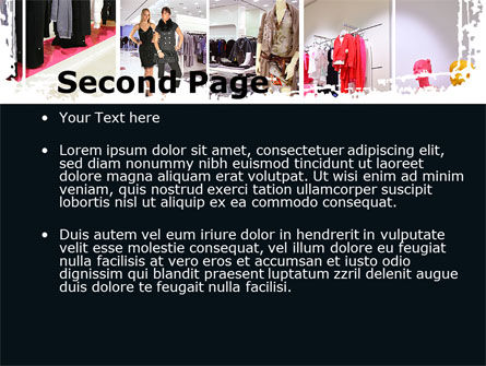 Clothing Store PowerPoint Template, Slide 2, 09363, Business — PoweredTemplate.com