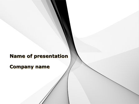 Gray Petals PowerPoint Template