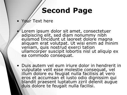 Gray Petals PowerPoint Template, Slide 2, 09364, Abstract/Textures — PoweredTemplate.com