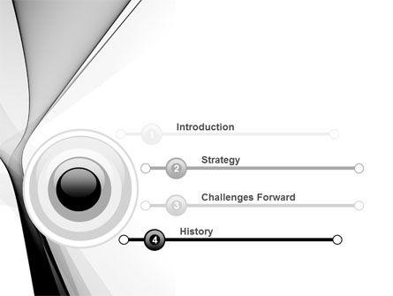 Gray Petals PowerPoint Template, Slide 3, 09364, Abstract/Textures — PoweredTemplate.com