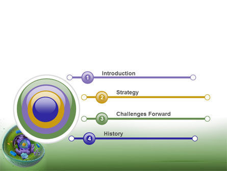 Animal Cell Cut Away PowerPoint Template, Slide 3, 09366, Technology and Science — PoweredTemplate.com