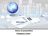 Consulting: Globe PowerPoint Template #09368