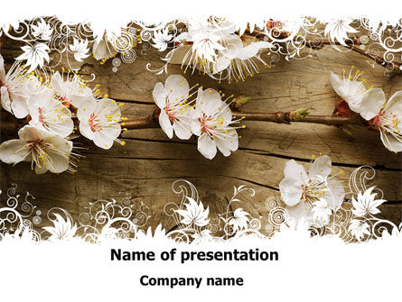 Spring Blossom Apple Tree PowerPoint Template, 09369, Nature & Environment — PoweredTemplate.com