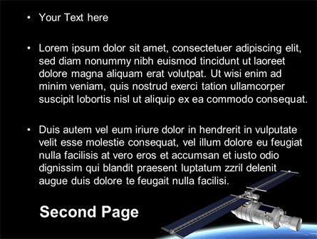 Spaceship In Deep Space PowerPoint Template Slide 2