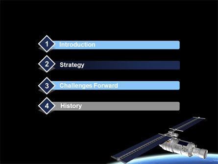 Spaceship In Deep Space PowerPoint Template Slide 3
