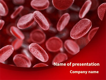 Red Blood Cells Stream PowerPoint Template, 09372, Medical — PoweredTemplate.com