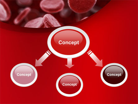 Red Blood Cells Stream PowerPoint Template, Slide 4, 09372, Medical — PoweredTemplate.com