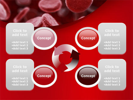 Red Blood Cells Stream PowerPoint Template Slide 9