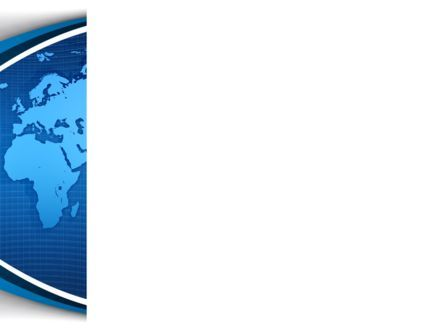 Global Map In Blue PowerPoint Template, Slide 3, 09373, Global — PoweredTemplate.com