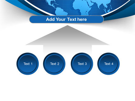Global Map In Blue PowerPoint Template Slide 8