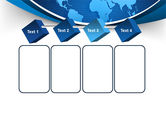Global Map In Blue PowerPoint Template#18