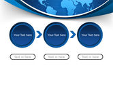 Global Map In Blue PowerPoint Template#5