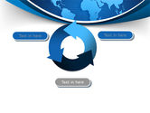 Global Map In Blue PowerPoint Template#9