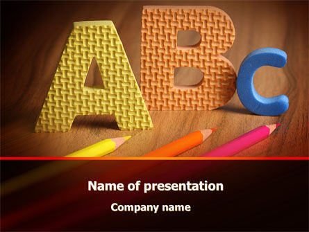 Letters For Education PowerPoint Template