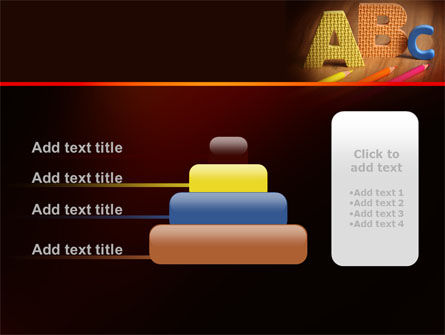 Letters For Education PowerPoint Template Slide 8