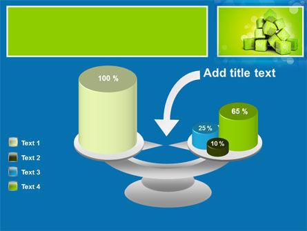 Green Percent Cubes PowerPoint Template Slide 10
